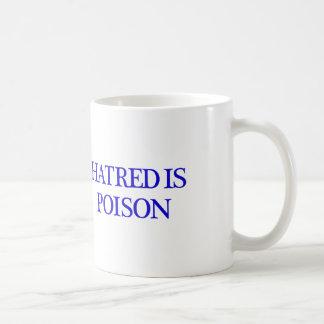 La haine est tasse de blanc de poison
