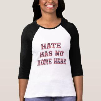 la haine n'a aucune conception de T-shirt d'unité