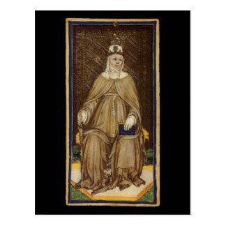 La haute carte de tarot de prêtresse cartes postales