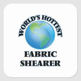 La haveuse du tissu la plus chaude du monde autocollant carré