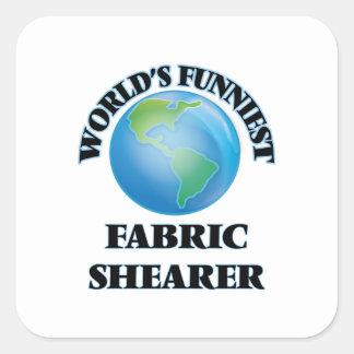 La haveuse du tissu la plus drôle du monde sticker carré