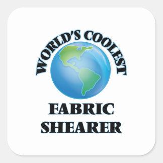 La haveuse du tissu la plus fraîche du monde stickers carrés
