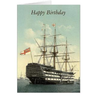 La HMS Victory a personnalisé la carte de voeux