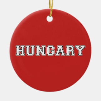 La Hongrie Ornement Rond En Céramique