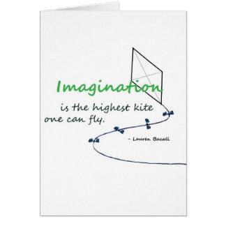 """La """"imagination est le plus haut cerf-volant """" carte de vœux"""