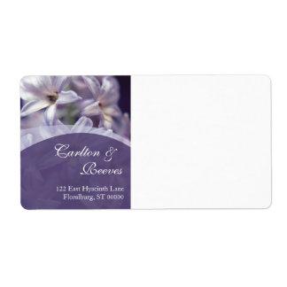 La jacinthe fleurit expédition étiquette d'expédition