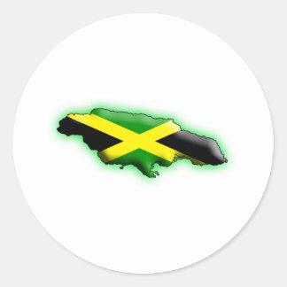 La Jamaïque Sticker Rond