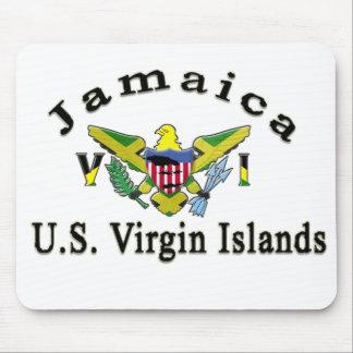 La Jamaïque/Îles Vierges américaines Tapis De Souris