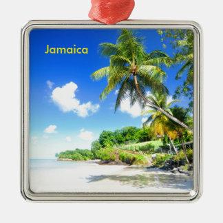 La Jamaïque Ornement Carré Argenté