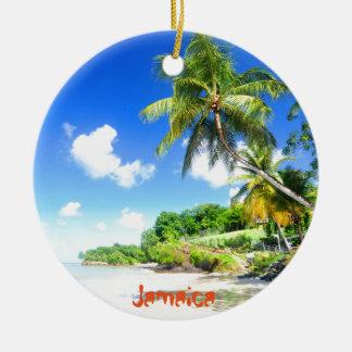 La Jamaïque Ornement Rond En Céramique