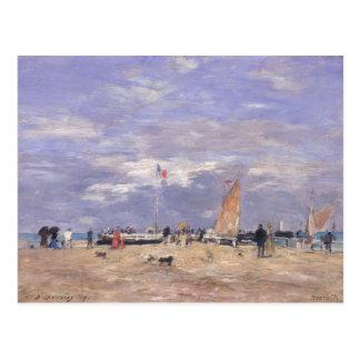 La jetée à Deauville, 1869 Carte Postale