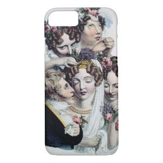 La jeune mariée, c.1820 (litho) coque iPhone 7