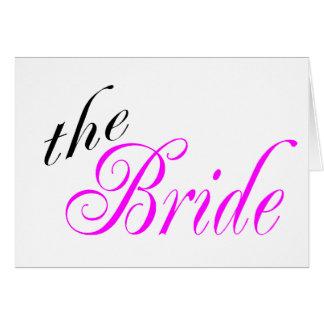La jeune mariée carte de vœux