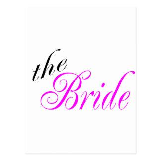 La jeune mariée carte postale