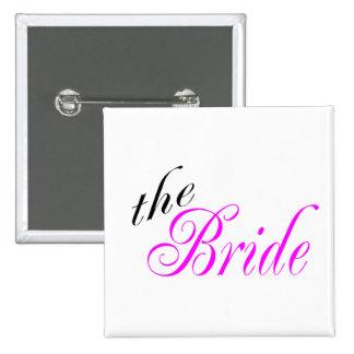 La jeune mariée - customisée badge carré 5 cm