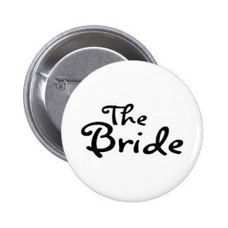 La jeune mariée (noir) badge rond 5 cm
