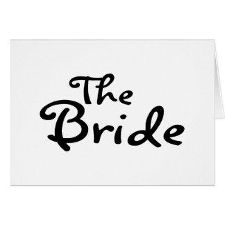 La jeune mariée (noir) carte de vœux