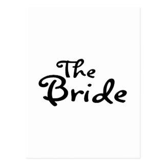 La jeune mariée (noir) cartes postales