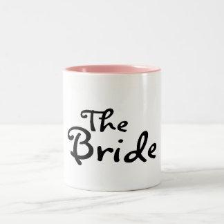 La jeune mariée (noir) mug bicolore