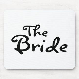 La jeune mariée noir tapis de souris