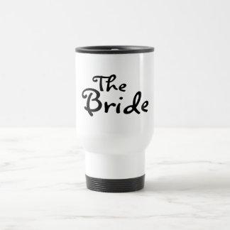La jeune mariée noir tasse à café