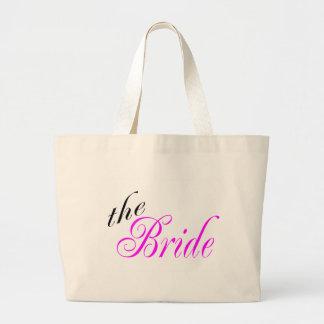 La jeune mariée sac en toile