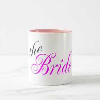 La jeune mariée tasses à café