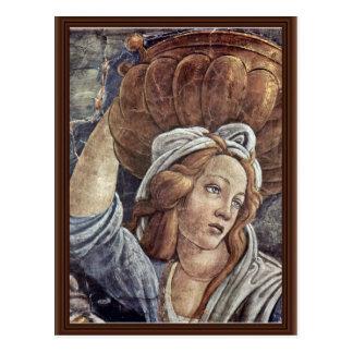 La jeunesse de Moïse, détail par Botticelli Sandro Carte Postale