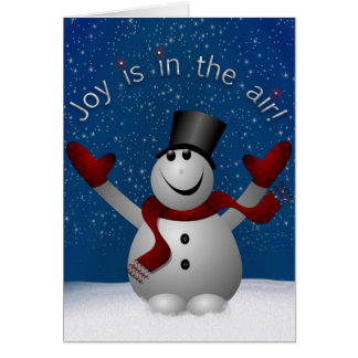 La joie de bonhomme de neige est dans la carte de