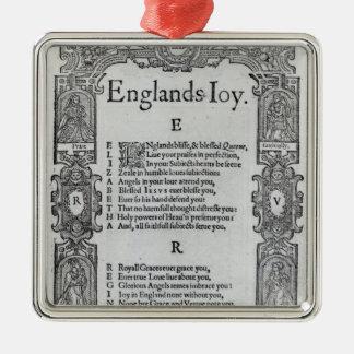 La joie de l'Angleterre par Richard Vennar, c.1602 Ornement Carré Argenté