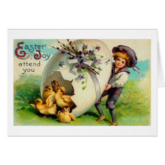 La joie de mai Pâques s'occupent de vous Pâques Cartes De Vœux