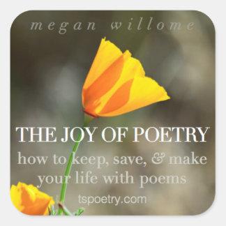 La joie des autocollants de poésie