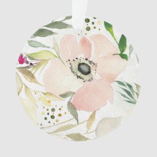 La joie du motif floral d'aquarelle du blanc  