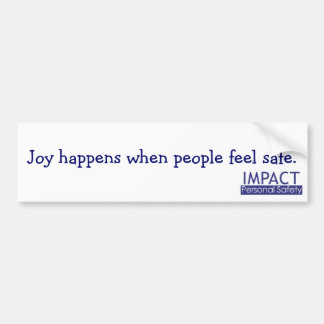 La joie se produit adhésif pour pare-chocs autocollant de voiture