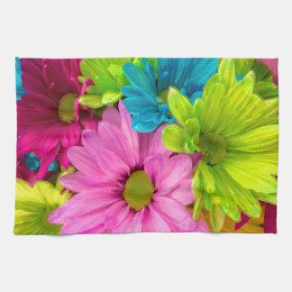 La jolie aquarelle fleurit le bouquet linge de cuisine