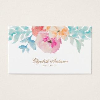 La jolie aquarelle fleurit le carte de visite