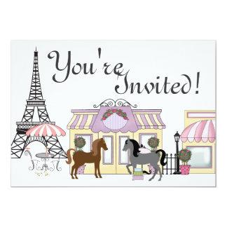 La jolie invitation d'anniversaire de cheval de