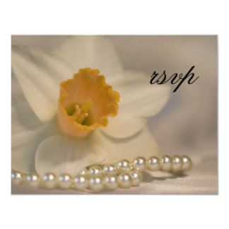 La jonquille blanche perle épouser la carte de