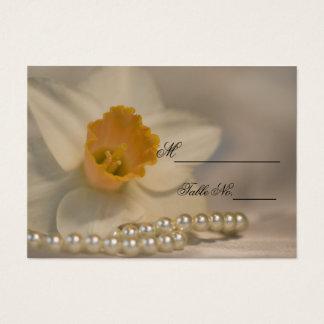 La jonquille blanche perle la carte d'endroit de