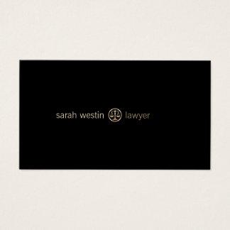 La justice d'or d'avocat mesure le carte de visite