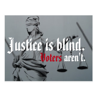 La justice est carte postale aveugle