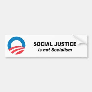 La justice sociale n'est pas socialisme autocollant pour voiture