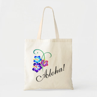 La ketmie hawaïenne fleurit Aloha Sac De Toile