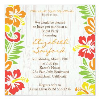 La ketmie hawaïenne fleurit l'invitation carton d'invitation  13,33 cm