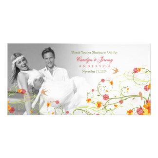 La ketmie jaune tourbillonne Merci de mariage de Cartes Avec Photo