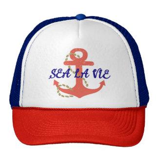 la La de mer luttent le chapeau de camionneur Casquette Trucker
