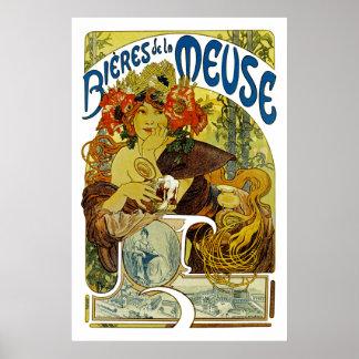La la Meuse de Bieres De Poster