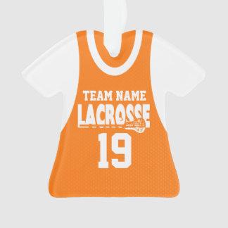 La lacrosse folâtre l'orange du Jersey