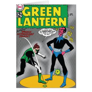 La lanterne verte enlève l'anneau carte de vœux