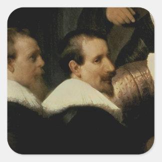 La leçon d'anatomie de Dr. Nicolaes Tulp, 1632 Sticker Carré